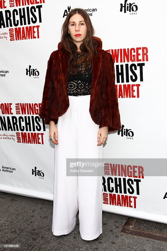 Zosia Mamet attends 'The Anarchist' Broadway opening night at John Golden Theatre on December 2, 2012 in New York City.