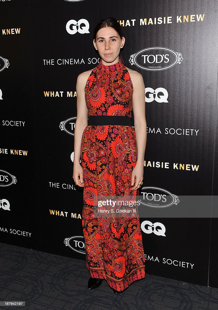Zosia Mamet attends The Cinema Society with Tod's & GQ screening of Millennium Entertainment's 'What Maisie Knew' at Sunshine Landmark on May 2, 2013 in New York City.