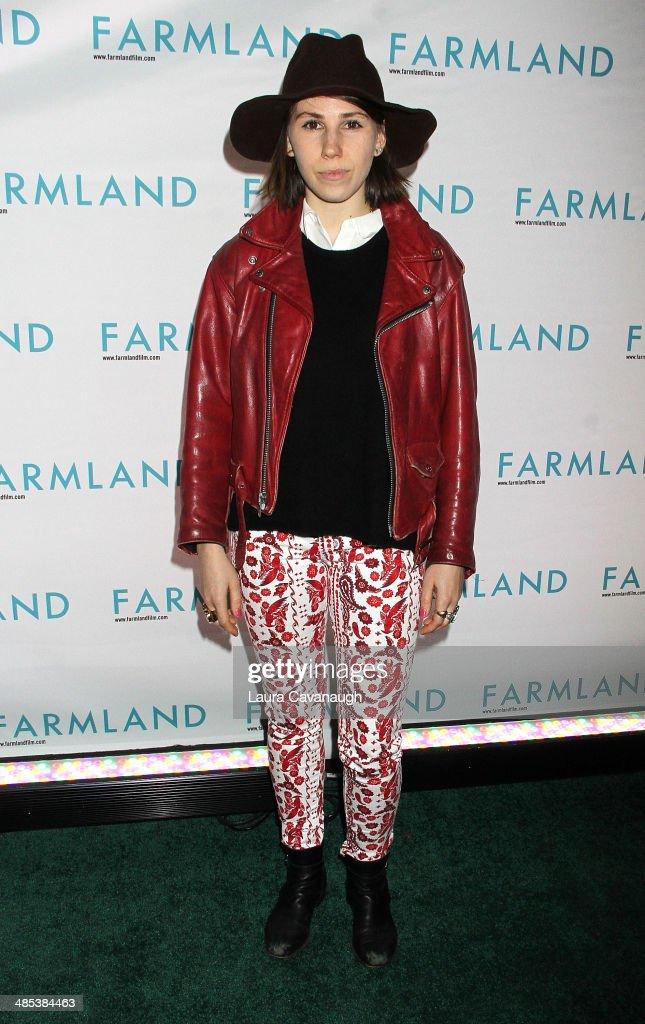 Zosia Mamet attends the 'Farmland' screening at Tribeca Cinemas on April 17 2014 in New York City
