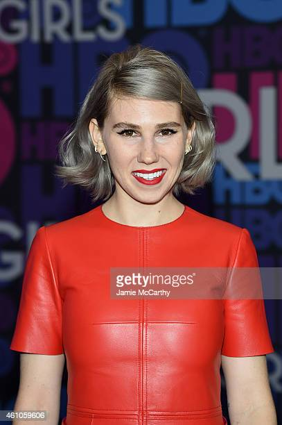 Zosia Mamet attends the 'Girls' season four series premiere at American Museum of Natural History on January 5 2015 in New York City