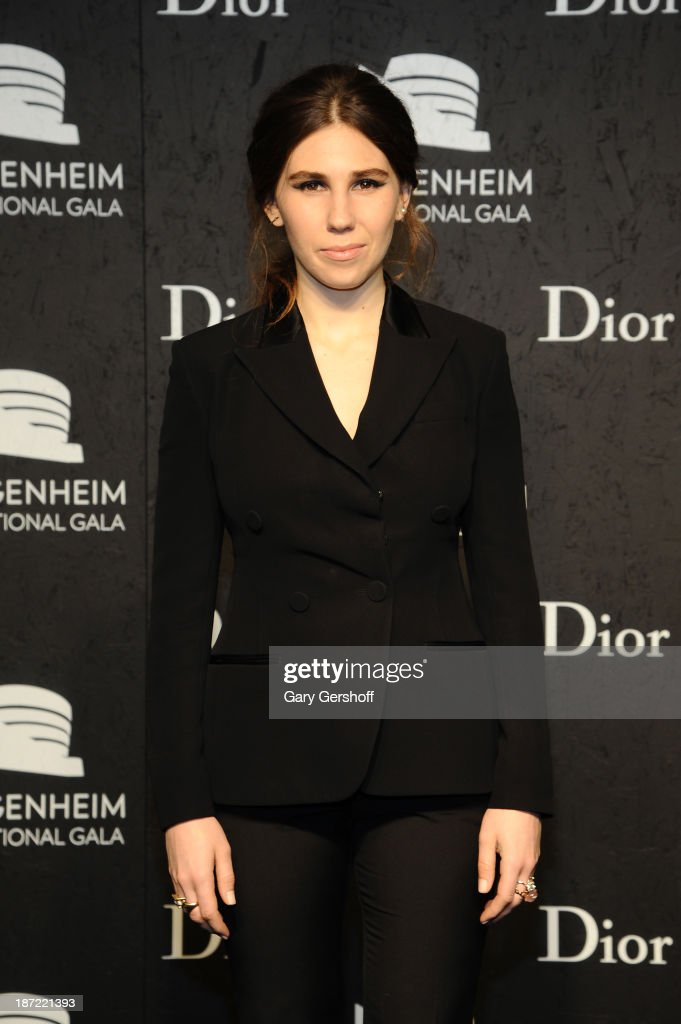 <a gi-track='captionPersonalityLinkClicked' href=/galleries/search?phrase=Zosia+Mamet&family=editorial&specificpeople=7439328 ng-click='$event.stopPropagation()'>Zosia Mamet</a> attends the Guggenheim International Gala, made possible by Dior, Pre-party hosted by The Young Collector's Council at the Guggenheim Museum on November 6, 2013 in New York City.