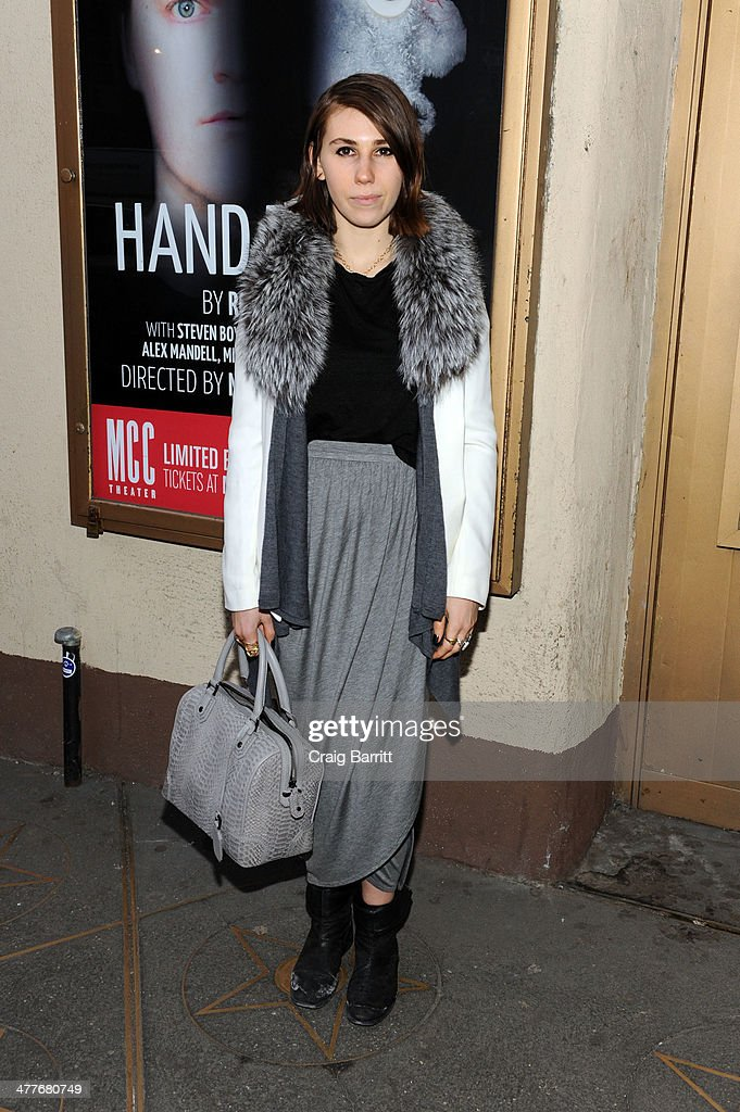 Zosia Mamet attends the 'Hand To God' Off Broadway opening night at Lucille Lortel Theatre on March 10 2014 in New York City