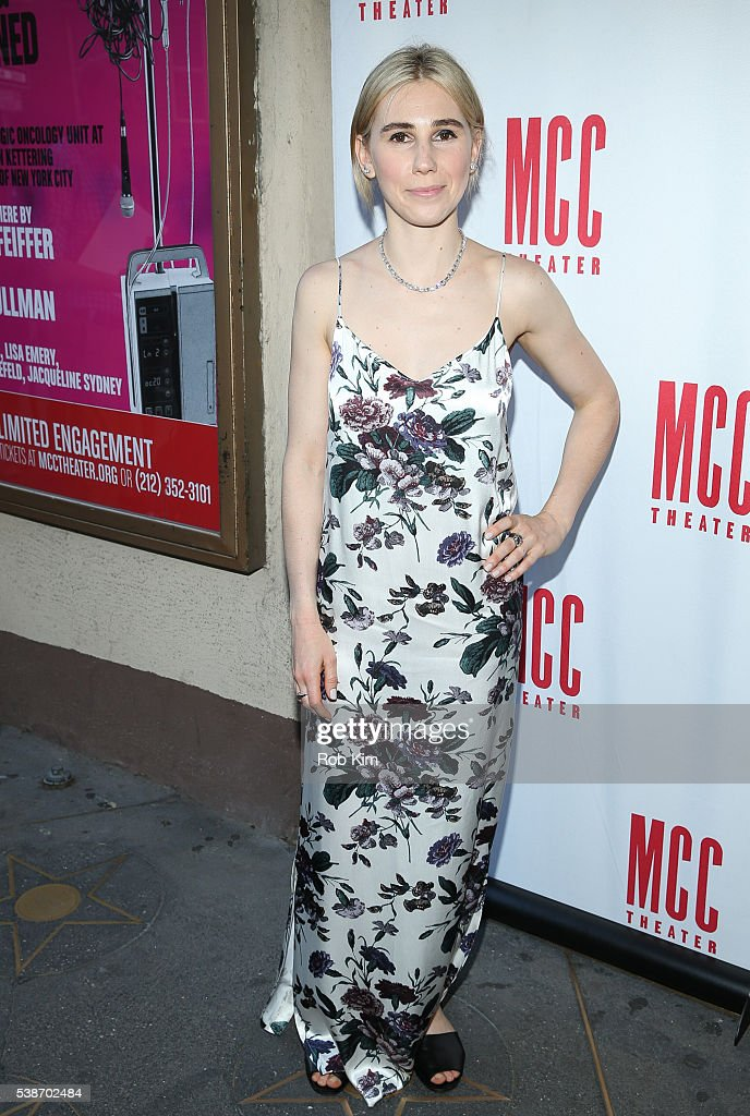 Zosia Mamet attends the opening night of 'A Funny Thing' at Lucille Lortel Theatre on June 7 2016 in New York City