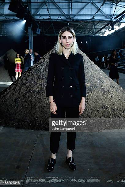 Zosia Mamet attends the Phillip Lim collection during Spring 2016 New York Fashion Week at Pier 94 on September 14 2015 in New York City