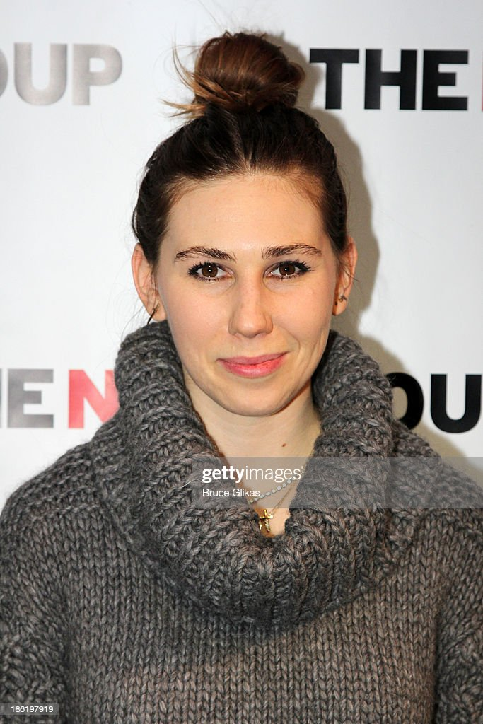 Zosia Mamet poses at The New Group benefit reading of 'Crimes of The Heart' at The Acorn Theater on October 28, 2013 in New York City.