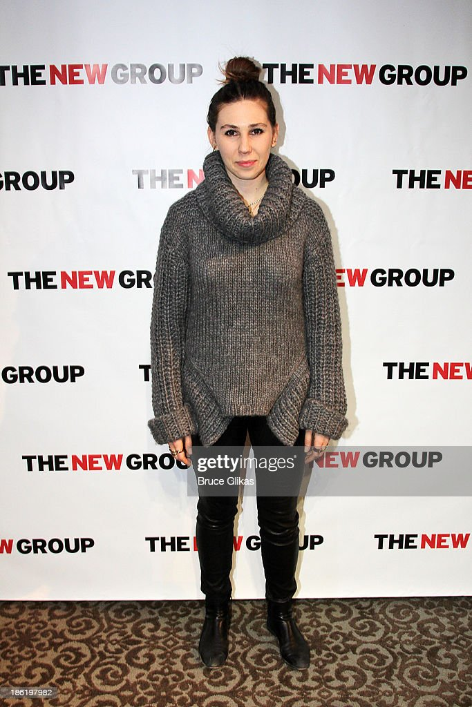 <a gi-track='captionPersonalityLinkClicked' href=/galleries/search?phrase=Zosia+Mamet&family=editorial&specificpeople=7439328 ng-click='$event.stopPropagation()'>Zosia Mamet</a> poses at The New Group benefit reading of 'Crimes of The Heart' at The Acorn Theater on October 28, 2013 in New York City.