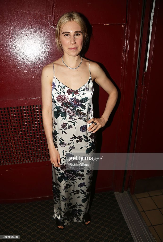 Zosia Mamet poses at The Opening Night of MCC Theater's 'A Funny Thing Happened on the Way to the Gynecologic Oncology Unit at Memorial...