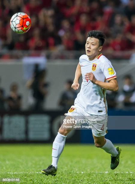 Zou Zheng of China PR in action during their FIFA World Cup Qualifiers 2015 match between Hong Kong and China PR on November 17 2015 at the Mong Kok...