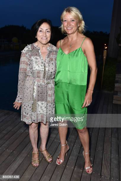 Zoya Kuznetsova and Janna Bullock attend ARTrageous Gala Art Auction benefitting Hour Children at a Private Residence on August 18 2017 in...