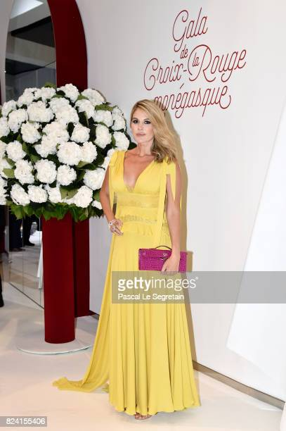 Zoya Sakr attends the 69th Monaco Red Cross Ball Gala at Sporting MonteCarlo on July 28 2017 in MonteCarlo Monaco