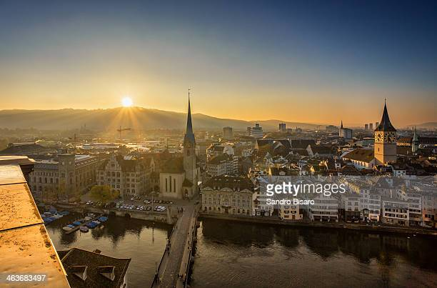 Zürich sunset skyline