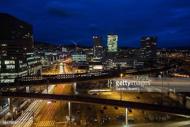 Zürich west Cityscape at night