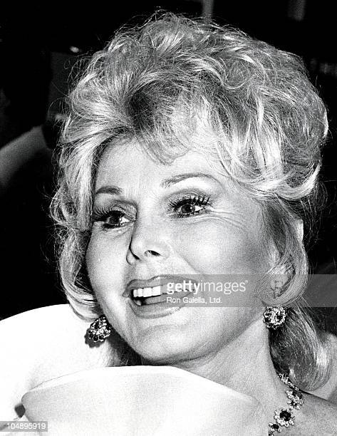 Zsa Zsa Gabor during Valentino Awards honoring Gregory Peck at Century Plaza Hotel in Century City California United States