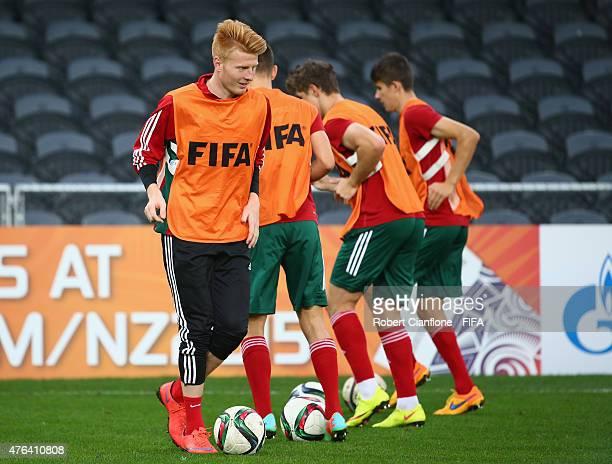 Zsolt Kalmar of Hungary during a Hungary U20s training session at Otago Stadium on June 9 2015 in Dunedin New Zealand