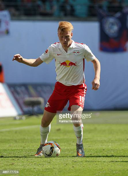 Zsolt Kalmar of Leipzig during the Second League match between RB Leipzig and FC StPauli at RedBull Arena on August 23 2015 in Leipzig Germany