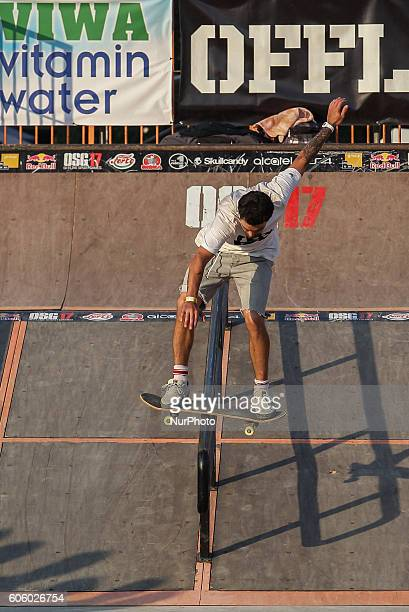 Zsolt Karkossiák of Hungary and Burn Energy rider in action during the final of the 17th of OSG Offline Sport Games at Városliget on Sept 10 2016 in...