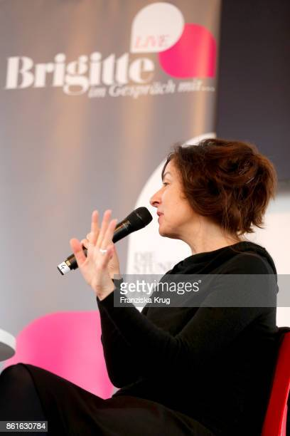 Zsuzsa Bank during the BRIGITTE LIVE at the Frankfurt Book Fair on October 15 2017 in Frankfurt am Main Germany The 2017 fair which is among the...