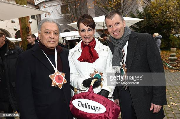 Zubin Mehta Anna Maria Kaufmann and Peter Mey attend the 19th BMW Advent Charity Concert at St Michael church on December 6 2014 in Munich Germany