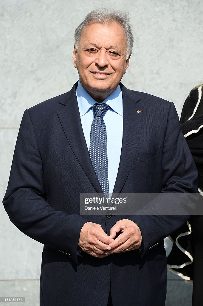 <a gi-track='captionPersonalityLinkClicked' href=/galleries/search?phrase=Zubin+Mehta&family=editorial&specificpeople=548623 ng-click='$event.stopPropagation()'>Zubin Mehta</a> attends the Emporio Armani show as a part of Milan Fashion Week Womenswear Spring/Summer 2014 on September 20, 2013 in Milan, Italy.
