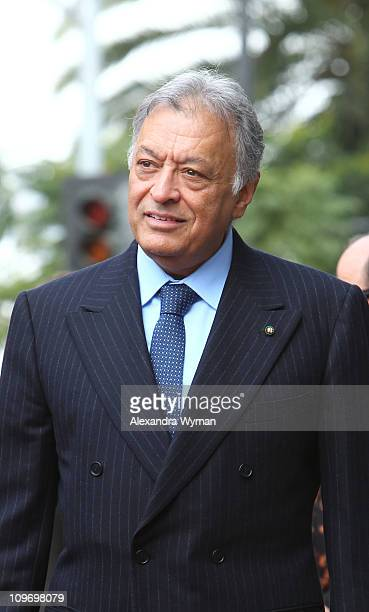 Zubin Mehta honored with a star on Hollywood Walk of Fame on March 1 2011 in Hollywood California