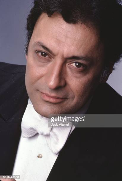 Zubin Mehta Indian Parsi conductor of Western classical music photographed in New York City in 1982