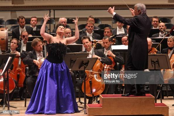 Zubin Mehta leading the Vienna Philharmonic Orchestra at Carnegie Hall on Sunday night March 16 2014This imageThe soprano Diana Damrau performing...