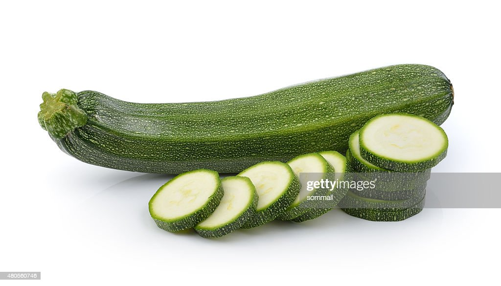 zucchini isolated on white background : Stock Photo
