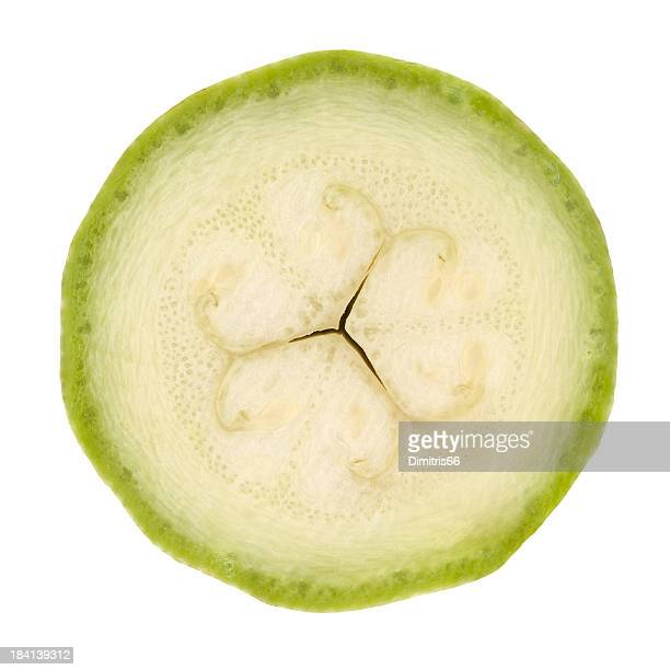 Zucchino parte su bianco