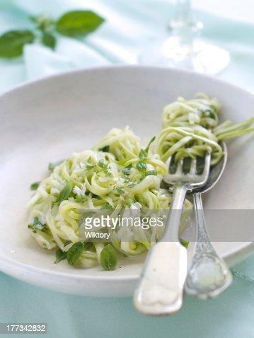 Zucchini Spaghetti : Stock Photo