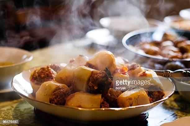 Zucchini stuffed with meat hot dish