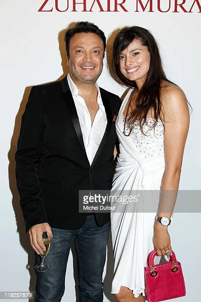 Zuhair Murad and Gabriella Wright attend during the Zuhair Murad Haute Couture Fall/Winter 2011/2012 show as part of Paris Fashion Week at Hotel...