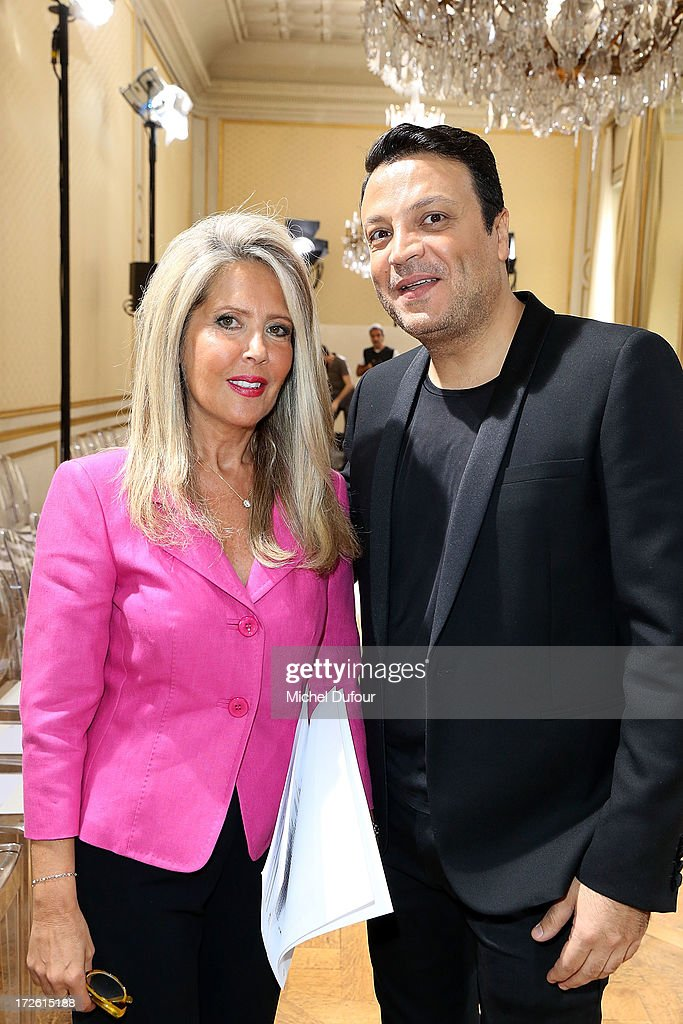 Zuhair Murad and his wife attend the Zuhair Murad show as part of Paris Fashion Week Haute-Couture Fall/Winter 2013-2014 at Hotel de Montmorency on July 4, 2013 in Paris, France.
