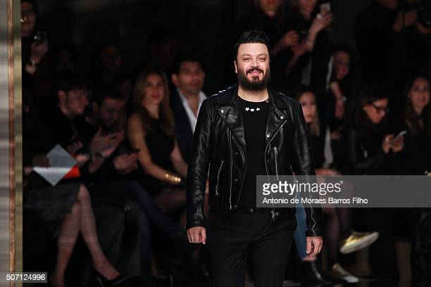Zuhair Murad walks the runway during the Zuhair Murad Haute Couture Spring Summer 2016 show as part of Paris Fashion Week on January 27 2016 in Paris...