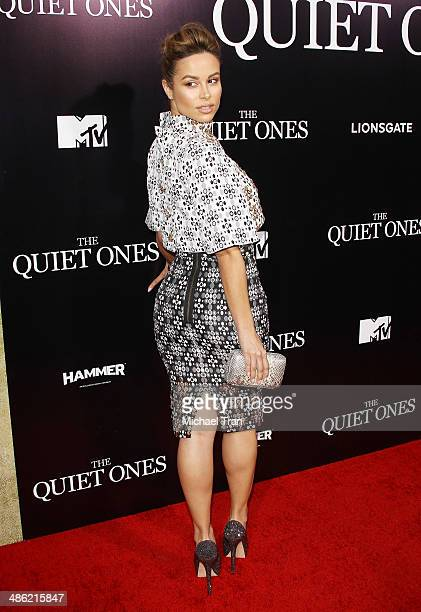 Zulay Henao arrives at the Los Angeles Premiere of 'The Quiet Ones' held at The Theatre at Ace Hotel on April 22 2014 in Los Angeles California