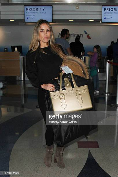 Zulay Henao is seen at LAX on October 24 2016 in Los Angeles California