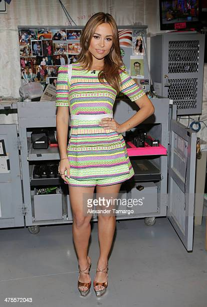 Zulay Henao is seen on the set of Univision's 'Despierta America' at Univision Headquarters on February 28 2014 in Miami Florida