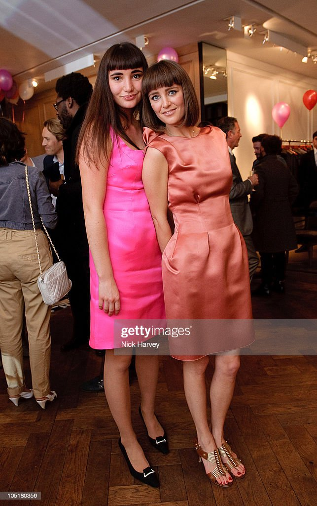 Zuleika Penniman (L) and Yasmine Penniman attend the Lanvin Party to celebrate the release of Mika's EP 'Songs Of Sorrow' on November 11, 2009 in London, England.