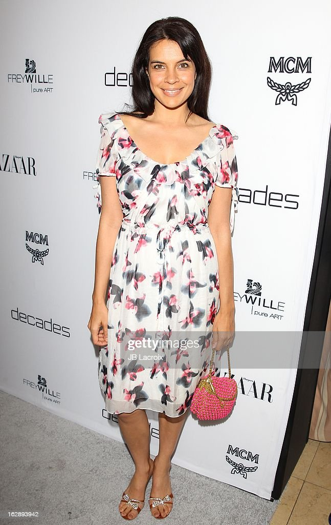 Zuleikha Robinson attends the Dukes Of Melrose launch hosted by Decades and Harper's BAZAAR at The Terrace at Sunset Tower on February 28, 2013 in West Hollywood, California.