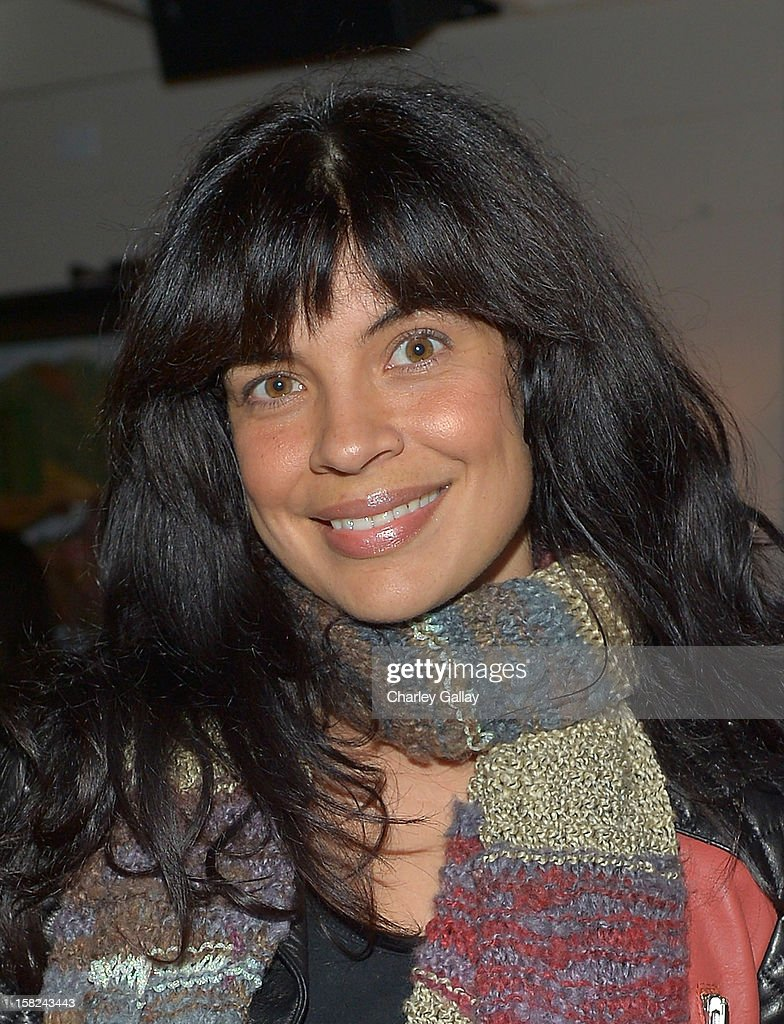 Zuleikha Robinson attends the I Heart Ronson Holiday Party at The Bungalow on December 11, 2012 in Santa Monica, California.
