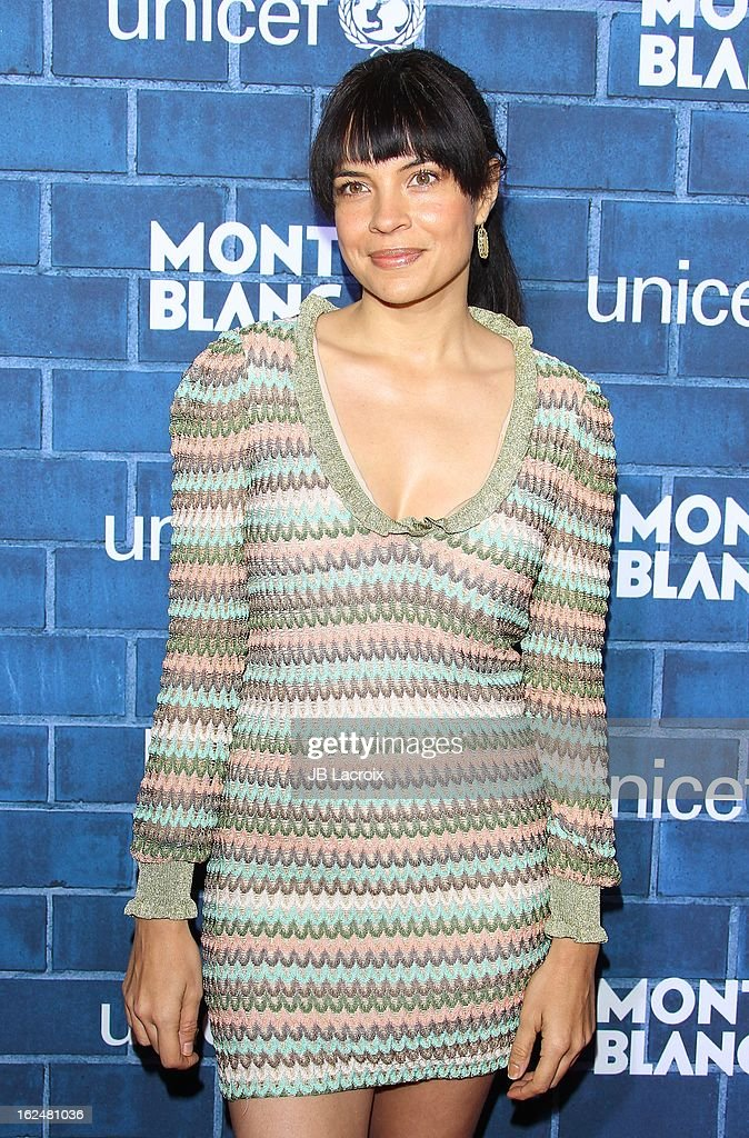 Zuleikha Robinson attends the Montblanc and UNICEF pre-Oscar brunch celebrating their limited edition collection at Hotel Bel-Air on February 23, 2013 in Los Angeles, California.