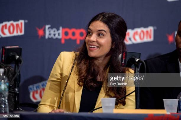 Zuleikha Robinson attends the 'The Exorcist' panel during the 2017 New York Comic Con Day 4 on October 8 2017 in New York City