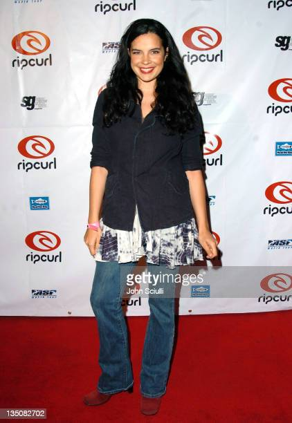 Zuleikha Robinson during Rip Curl Presents 'Sand Glam' Benefiting Heal the Bay Arrivals and Red Carpet at Club 1650 in Hollywood California United...
