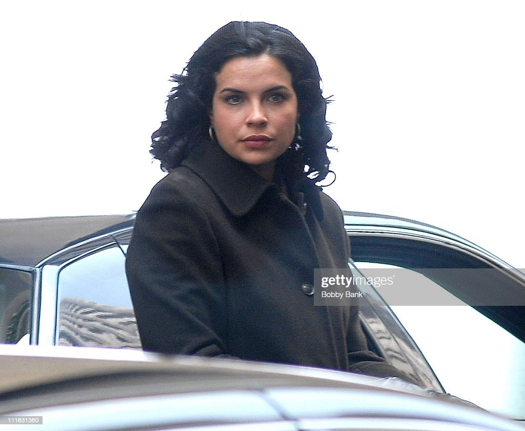 Zuleikha Robinson of 'New Amsterdam' on location in Tribeca Friday August 3 2007