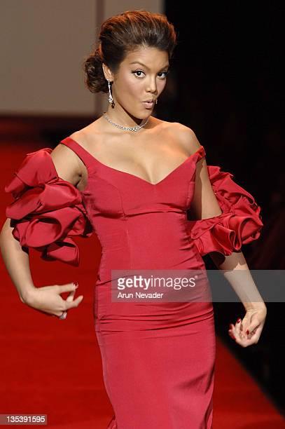 Zuleyka Rivera Mendoza Miss Universe wearing Gustavo Cidile during Heart Truth Red Dress Fall 2007