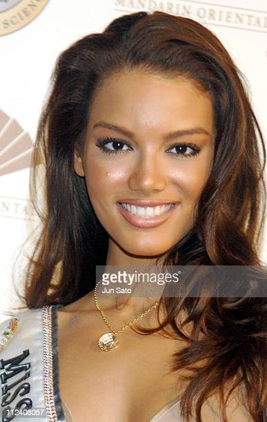 Zuleyka Rivera Miss Universe 2006 during 'American Academy of Hospitality Sciences' Star Diamond Award Ceremony Photocall at Mandarin Oriental Tokyo...