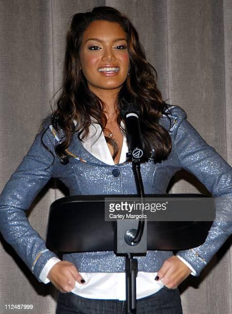 Zuleyka Rivera Miss Universe 2006 during IG International/Sanjana Jon AIDS Awareness Tour Press Conference in New York City New York United States