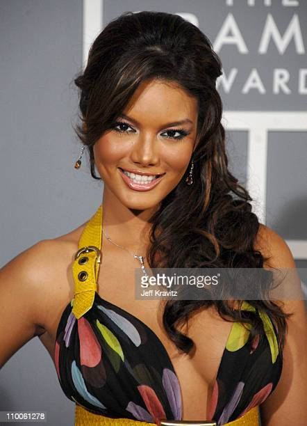 Zuleyka Rivera Miss Universe during The 49th Annual GRAMMY Awards Arrivals at Staples Center in Los Angeles California United States