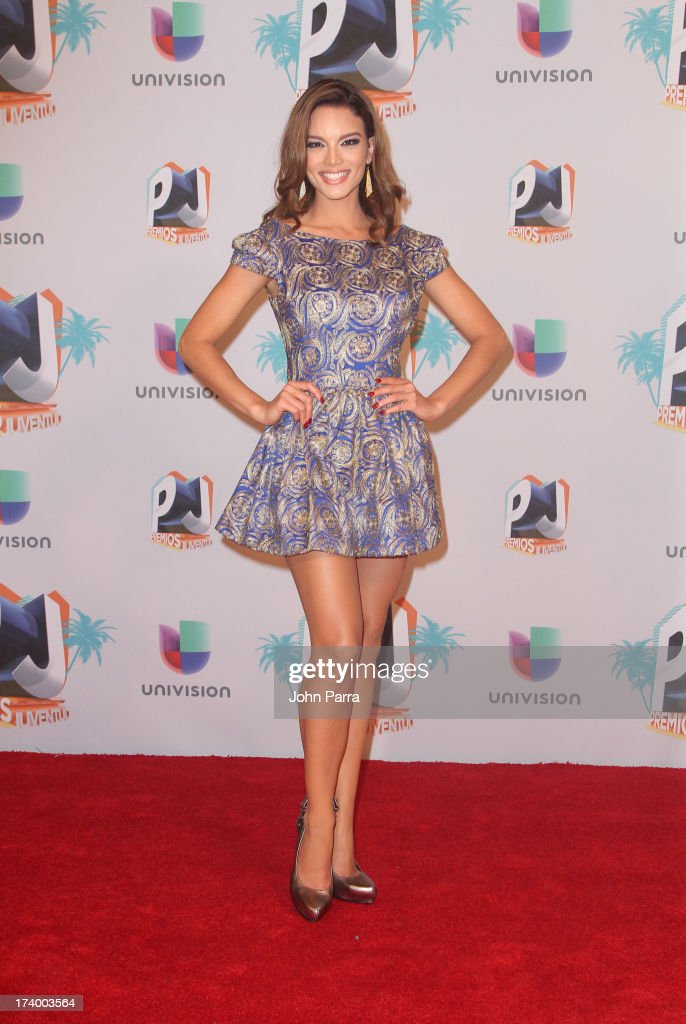 Zuleyka Rivera poses in the press room during the Premio Juventud 2013 at Bank United Center on July 18, 2013 in Miami, Florida.