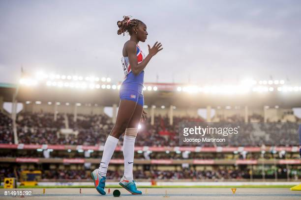 Zulia Hernandez of Cuba competes in the girls triple jump during day 4 of the IAAF U18 World Championships at Moi International Sports Centre...