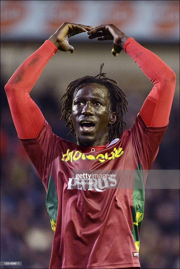 Zulte Waregem's Mbaye Leye reacts after the Jupiler Pro League match between Club Brugge and Zulte Waregem on November 4, in Brugge, Belgium.
